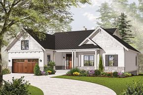 Photo of Plan 21940DR: Airy Craftsman-Style Ranch