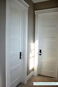 Wonderful Paint For Walls, Molding And Doors. Door Plate Behind Door Knobs