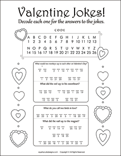 valentines day jokes for kids valentine riddles free printable party games puzzles - Kid Activity Pages