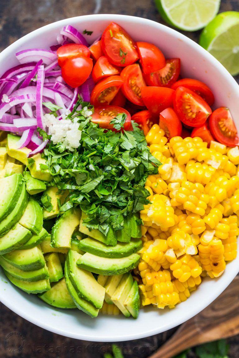 Avocado Corn Salad (VIDEO) - NatashasKitchen.com