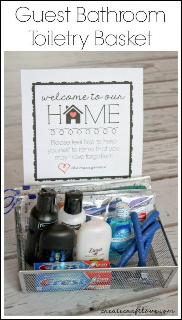 Guest Bathroom Toiletry Basket I whipped up this Guest Bathroom Toiletry Basket …