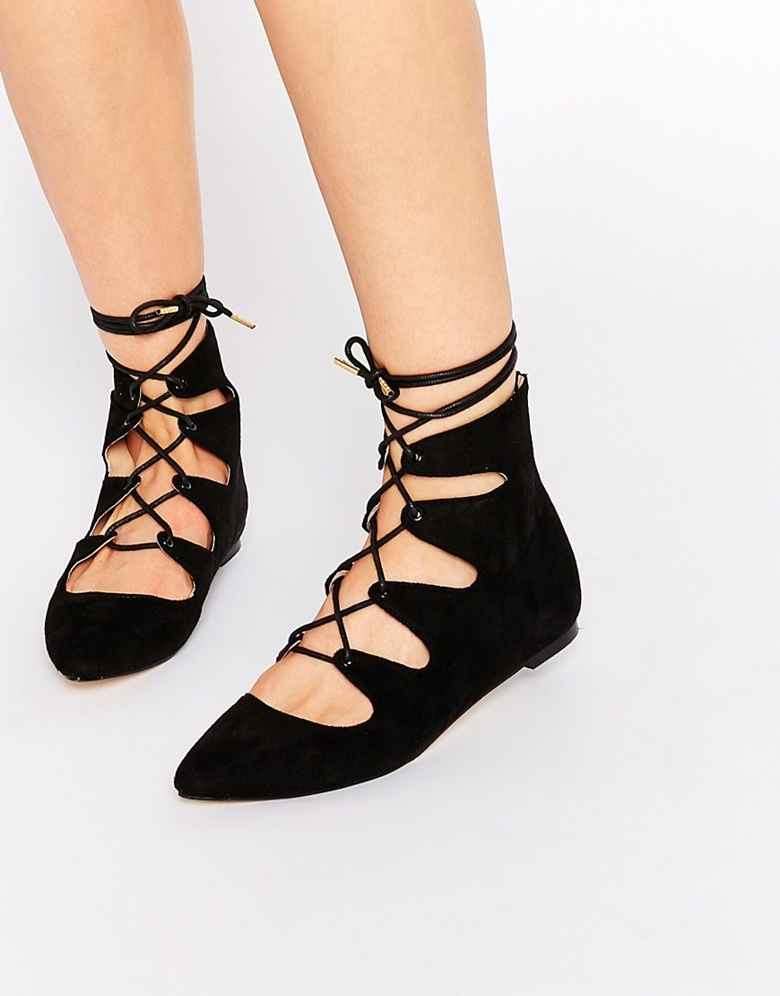 Truffle Collection Nicky Ghillie Lace Flat Shoes