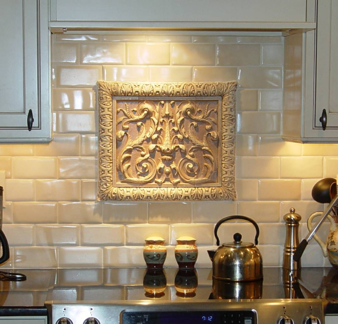 Decorative Tiles For Kitchen Walls Awesome View A Gallery Of Each Decorative Relief Tile For Kitchen Or Bath Design Inspiration