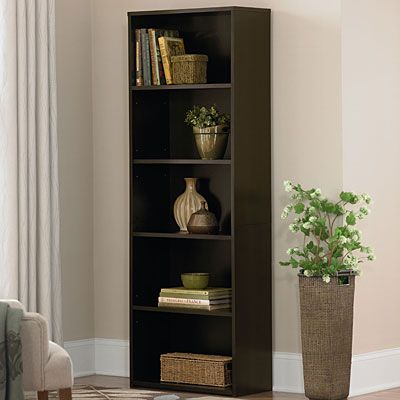 ameriwood 5-shelf bookcase black 3