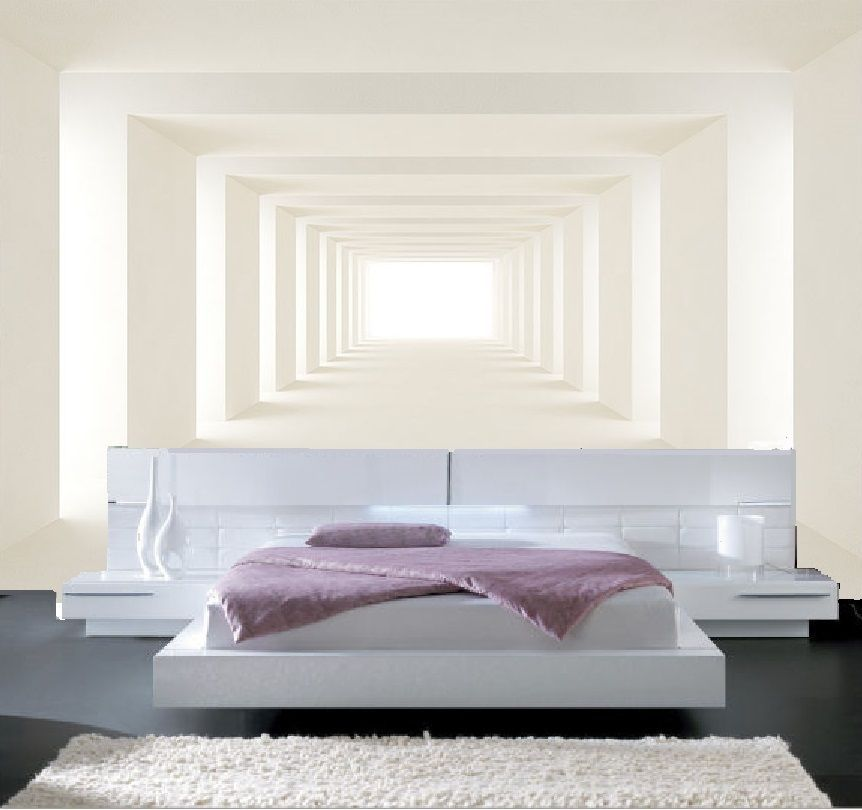 papier peint 3d trompe l 39 oeil photo murale relief 3d blanc moderne. Black Bedroom Furniture Sets. Home Design Ideas