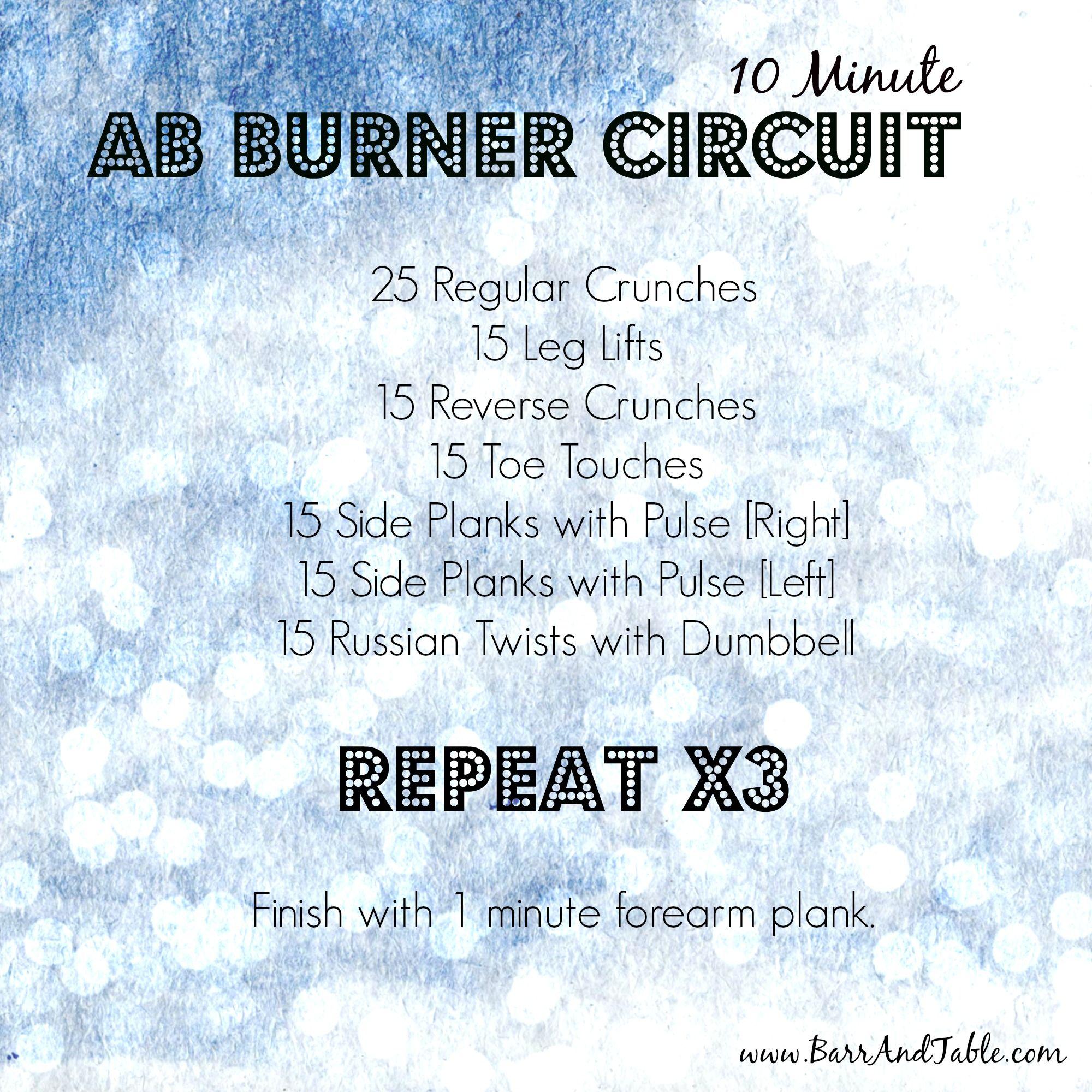 Fitness Friday: 10 Minute Ab Burner Circuit