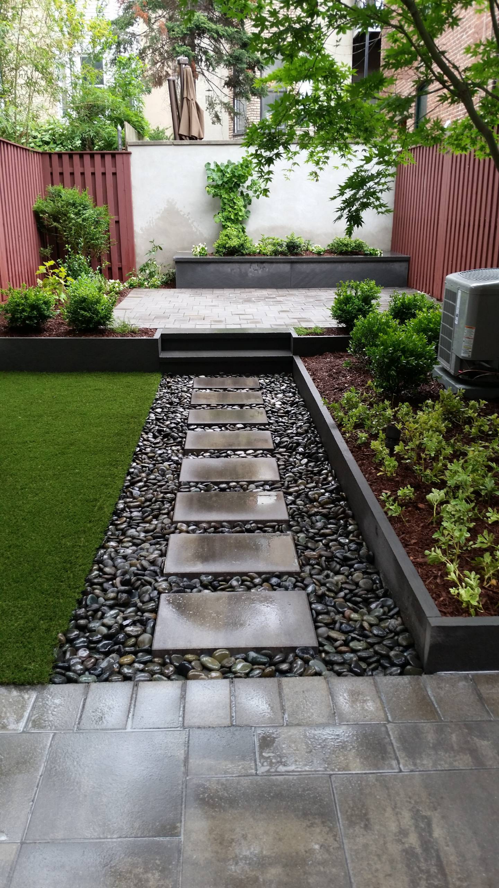 Stylish City Refuge Contemporary Patio New York By Hufnagel Landscape Desi In 2020 Small Backyard Landscaping Backyard Landscaping Backyard Landscaping Designs