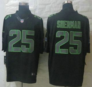 Nike Seattle Seahawks Jersey  25 Richard Sherman Impact Limited Black  Jerseys eb05ba985