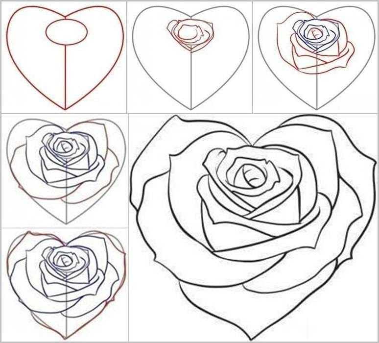 How To Draw A Rose From A Heart 2 Nalan In Dunyasi Diy Recycling Crochet Recipes Jewelrymaking Nlndnys 2020 Cizim Egitimleri Sanat Ogreticiler