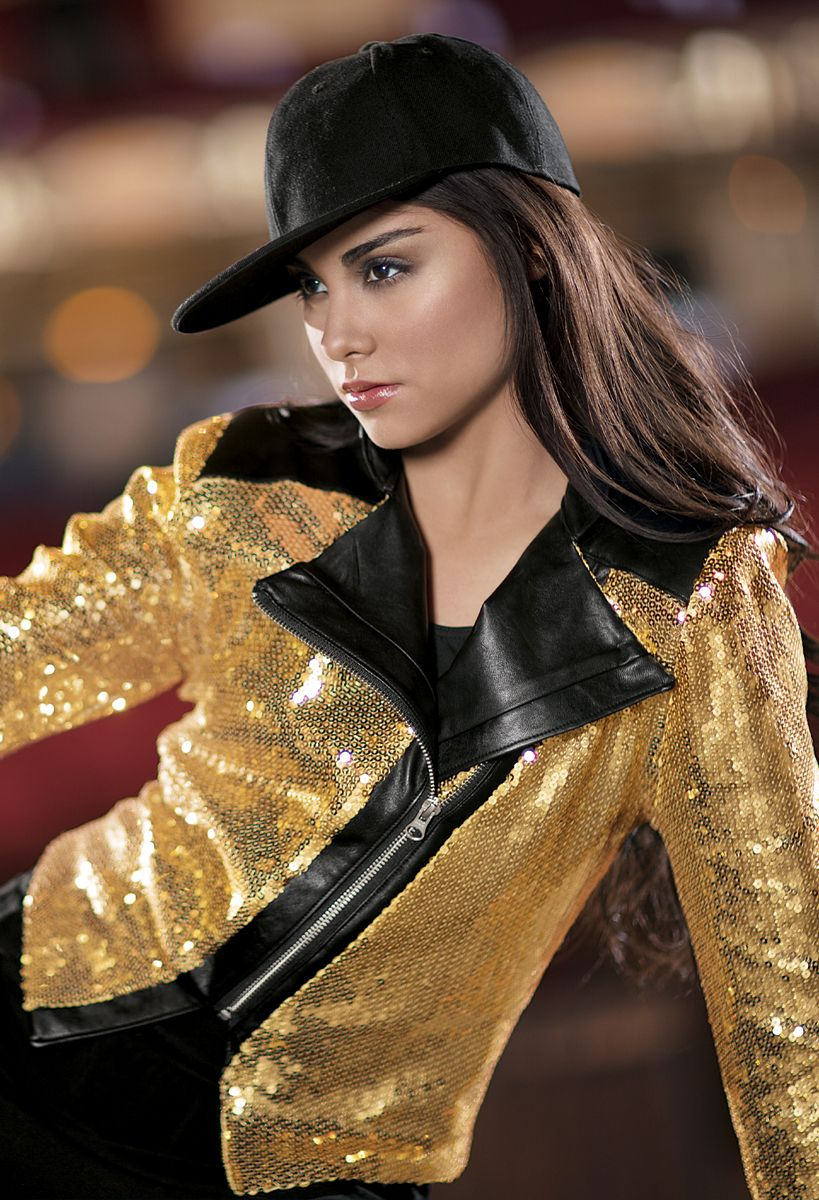 Weissman™ | Sequin and Faux Leather Jacket