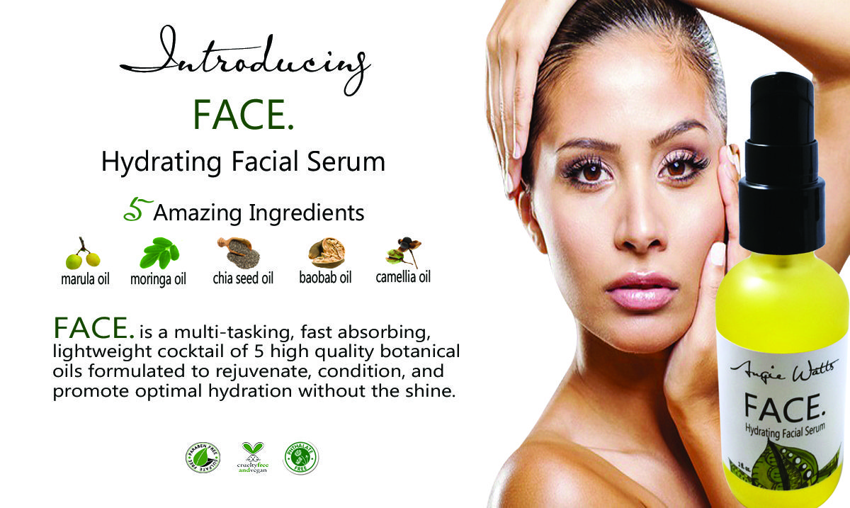 778177335 Hydrating Facial Serum. Hydration without the shine. 5 high quality  botanical oils