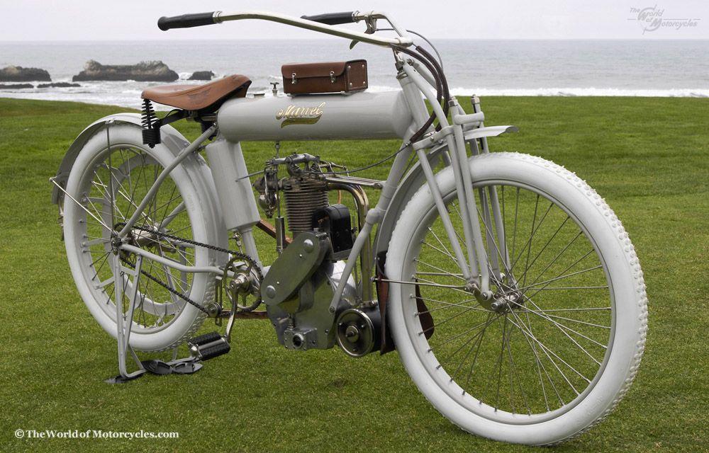 Vintage Classic Motorcycle Single Cylinder Ohv Motorcycle From The Marvel Motorcycle Co Of Classic Motorcycles Motorcycle Vintage Bikes