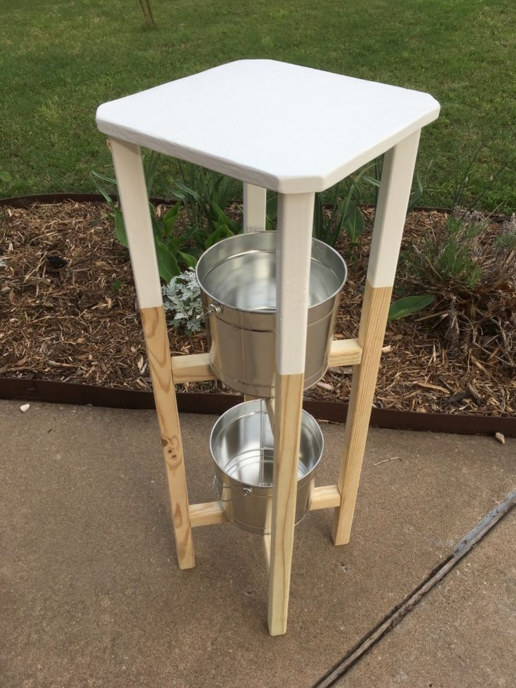 Best Simple Plant Stand With Removable Table Top Wood 640 x 480