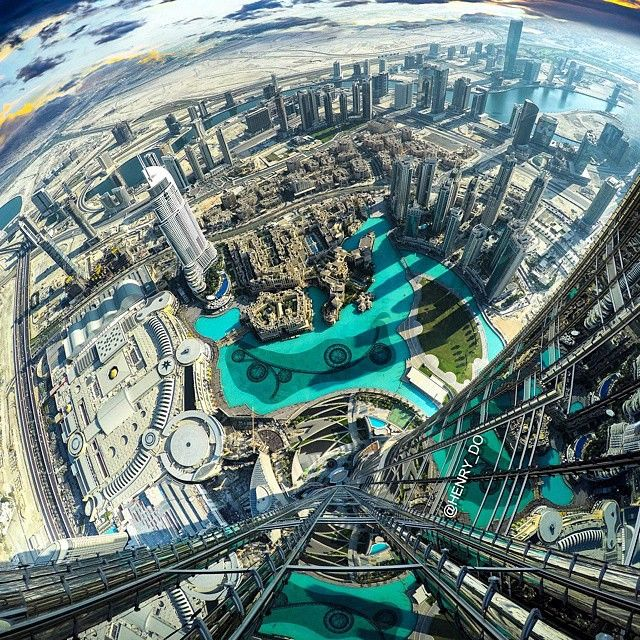 ✦ Insane view from the tallest tower in the world Burj khalifa ...
