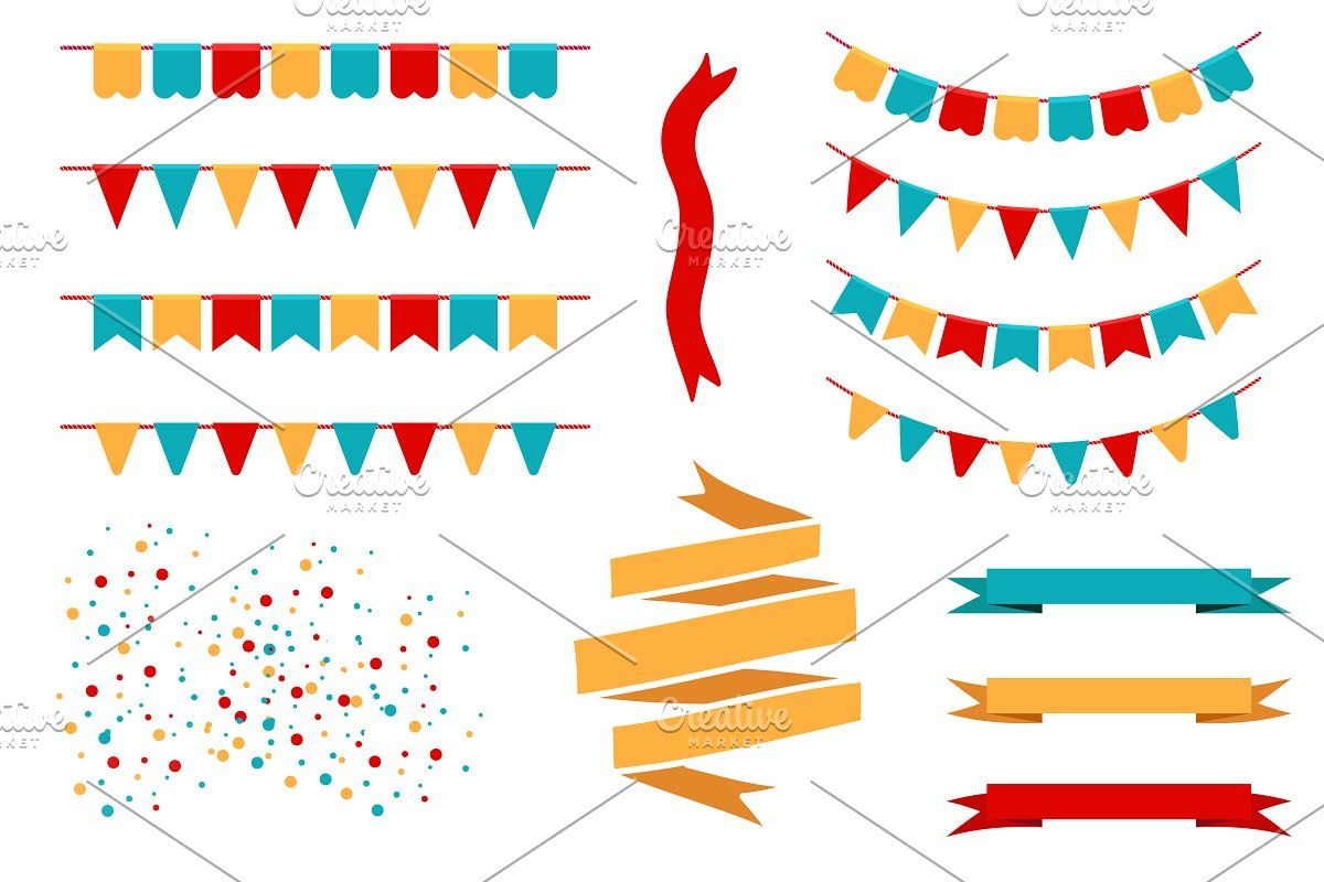 Holiday Flags Garlands And Banners Pennant Banner Template Holiday Banner Holiday Flag