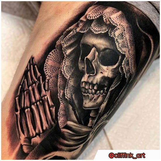 Santa Muerte Tattoo Storia Significati E Oltre 30 Idee Per I
