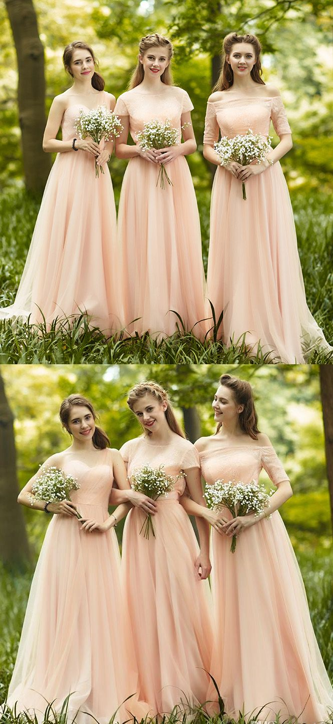Hot sale applique pink bridesmaid dresses luxurious long offthe