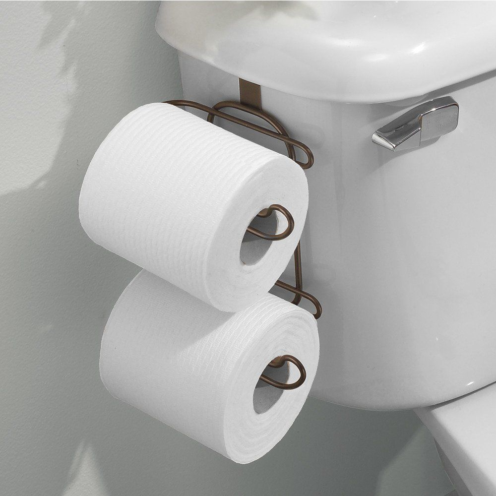 Interdesign Classico Over Tank Toilet Paper Holder 2 Roll Storage