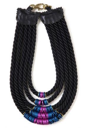 Pink & Blue Necklace - ELVIRA SAZESH - Carnet de Mode