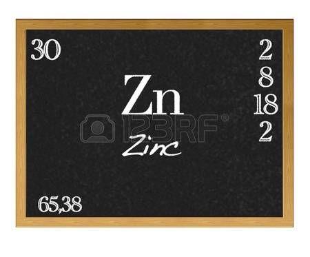 Pizarra aislada con la tabla peridica el zinc zn elementos pizarra aislada con la tabla peridica el zinc zn urtaz Images