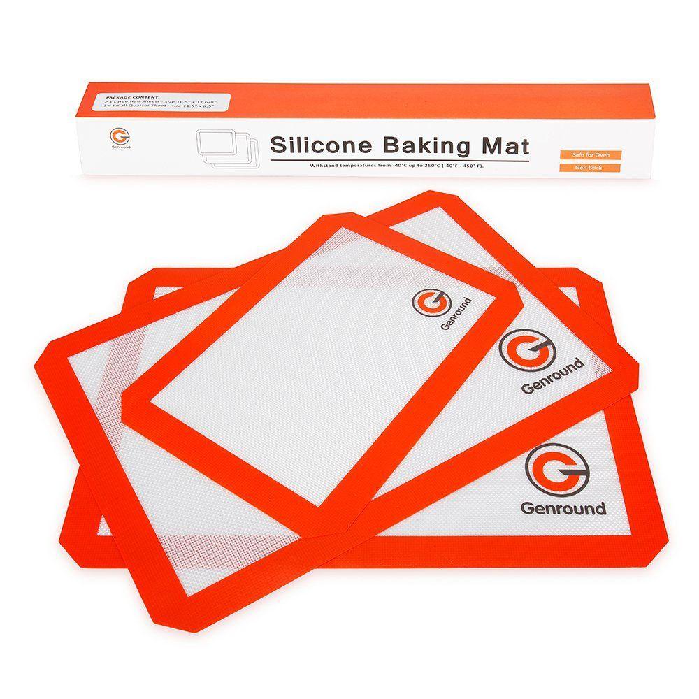 Genround Silicone Baking Mats Set Of 3