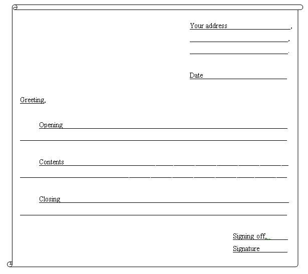 Friendly Letter Worksheet Rd Grade  Images Of Images Of Blank