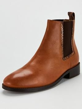Elastic Ankle Boots Tan