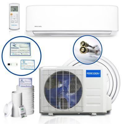 Mrcool Diy Enhanced 24 000 Btu 2 Ton Ductless Mini Split Air Conditioner And Heat Pump 208 230v 60hz White Heat