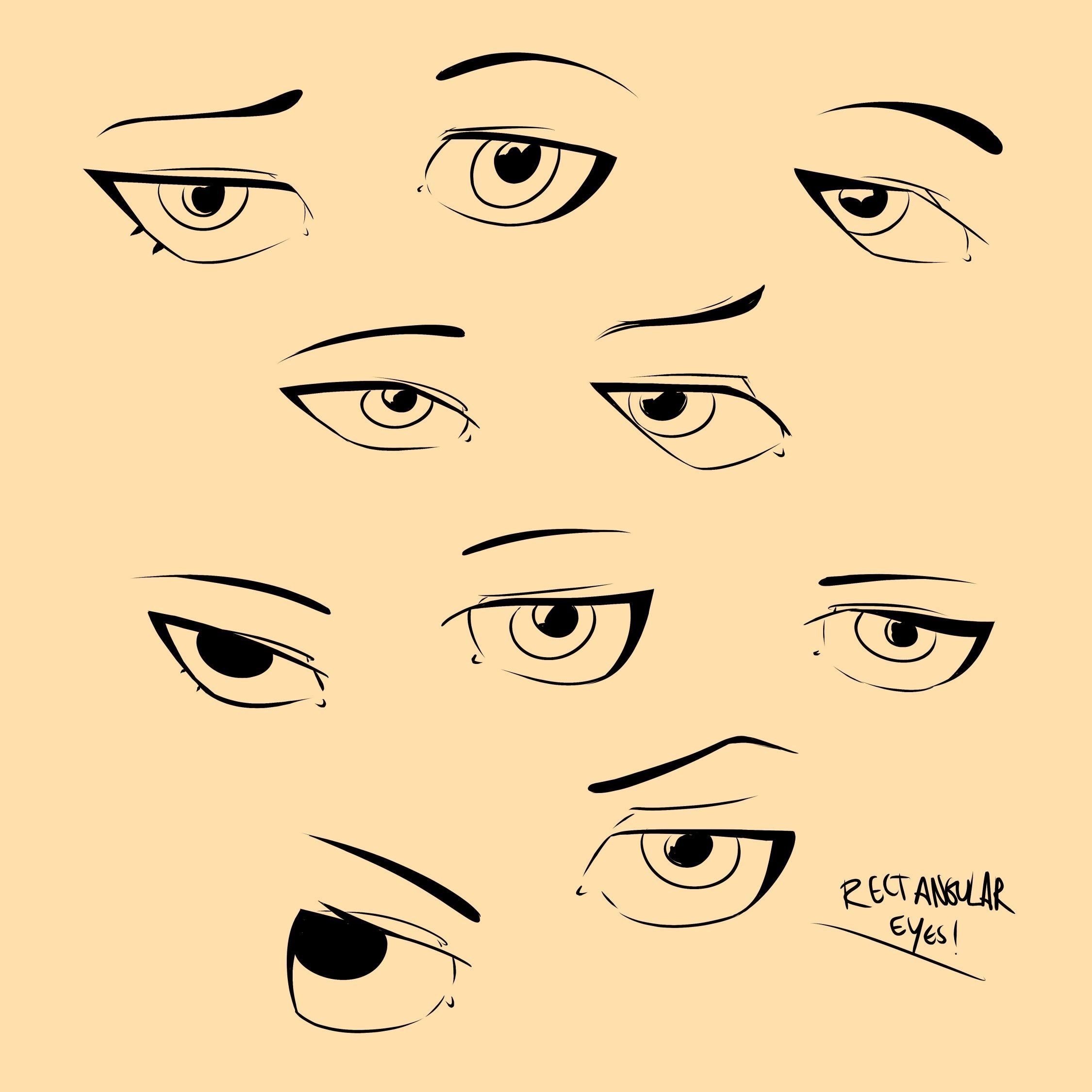 Sexy eyes drawing anime