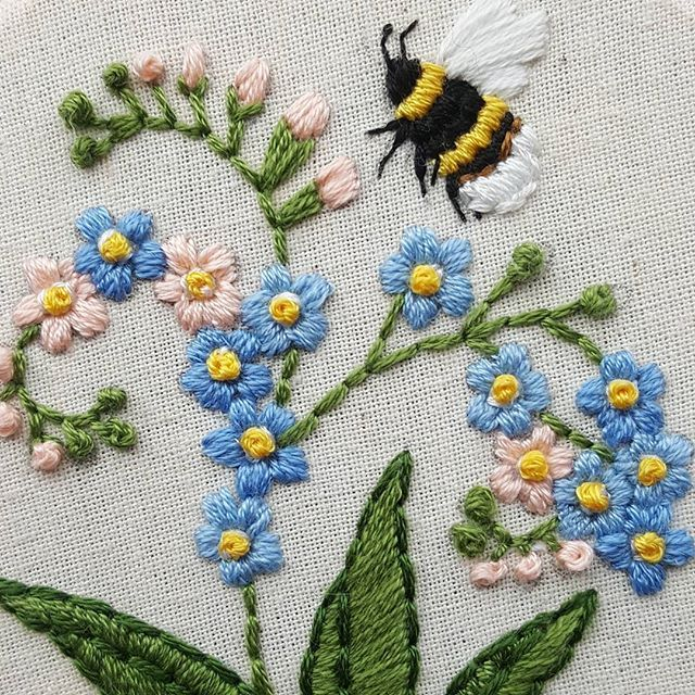 91b011dd007033 don't forget. | cool crap ✌ | Embroidery, Embroidery stitches, Bee ...
