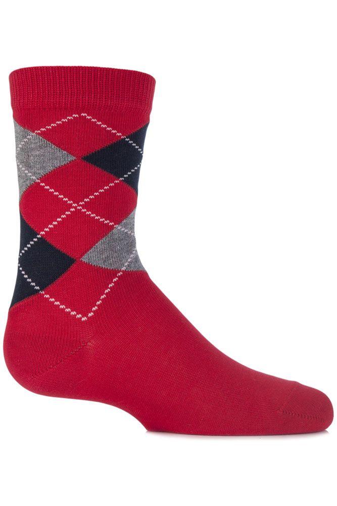 b8a988a7f Boys and Girls 1 Pair Falke Cotton Argyle Socks Argyle Socks