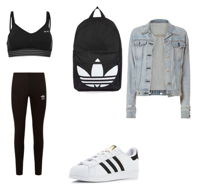 """""""🅐🅓🅘🅓🅐🅢"""" by aaylabb8 on Polyvore featuring adidas, adidas Originals, USA Pro, Topshop and rag & bone"""