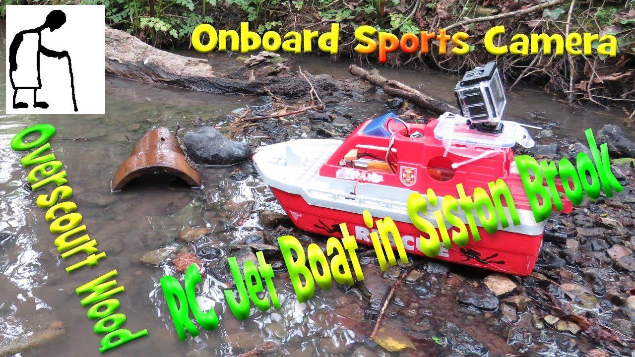 RC Jet Boat in Siston Brook Onboard Sports Camera Sports