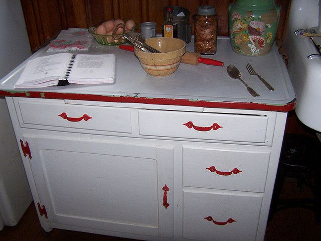 100_1448 An enamel topped base to a Hoosier Cabinet for Baking, via Flickr. - 100_1448 An Enamel Topped Base To A Hoosier Cabinet For Baking