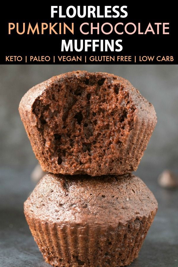 Healthy Flourless Pumpkin Chocolate Muffins (Paleo, Vegan, Keto, Sugar Free)- An easy one-bowl recipe for flourless chocolate muffins with pumpkin- Made with no flour, no oil and no butter, moist and gooey on the inside and tender on the outside! Freezer-friendly too! Flourless Pumpkin Chocolate Muffins (Paleo, Vegan, Keto, Sugar Free)- An easy one-bowl recipe for flourless chocolate muffins with pumpkin- Made with no flour, no oil and no butter, moist and gooey on the inside and tender on the outside! Freezer-friendly too! | Recipe on