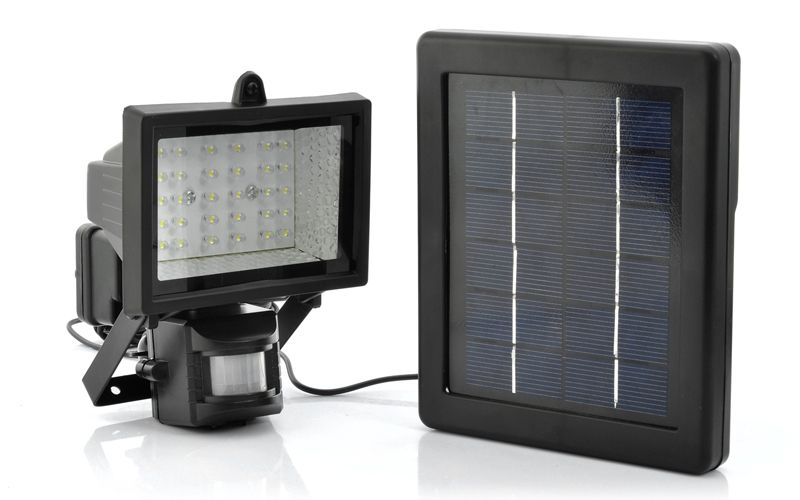 Solar Powered Led Flood Light Motion Detection Weatherproof