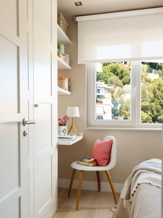 Escritorio con baldas ligeras revista el mueble for Revistas decoracion dormitorios