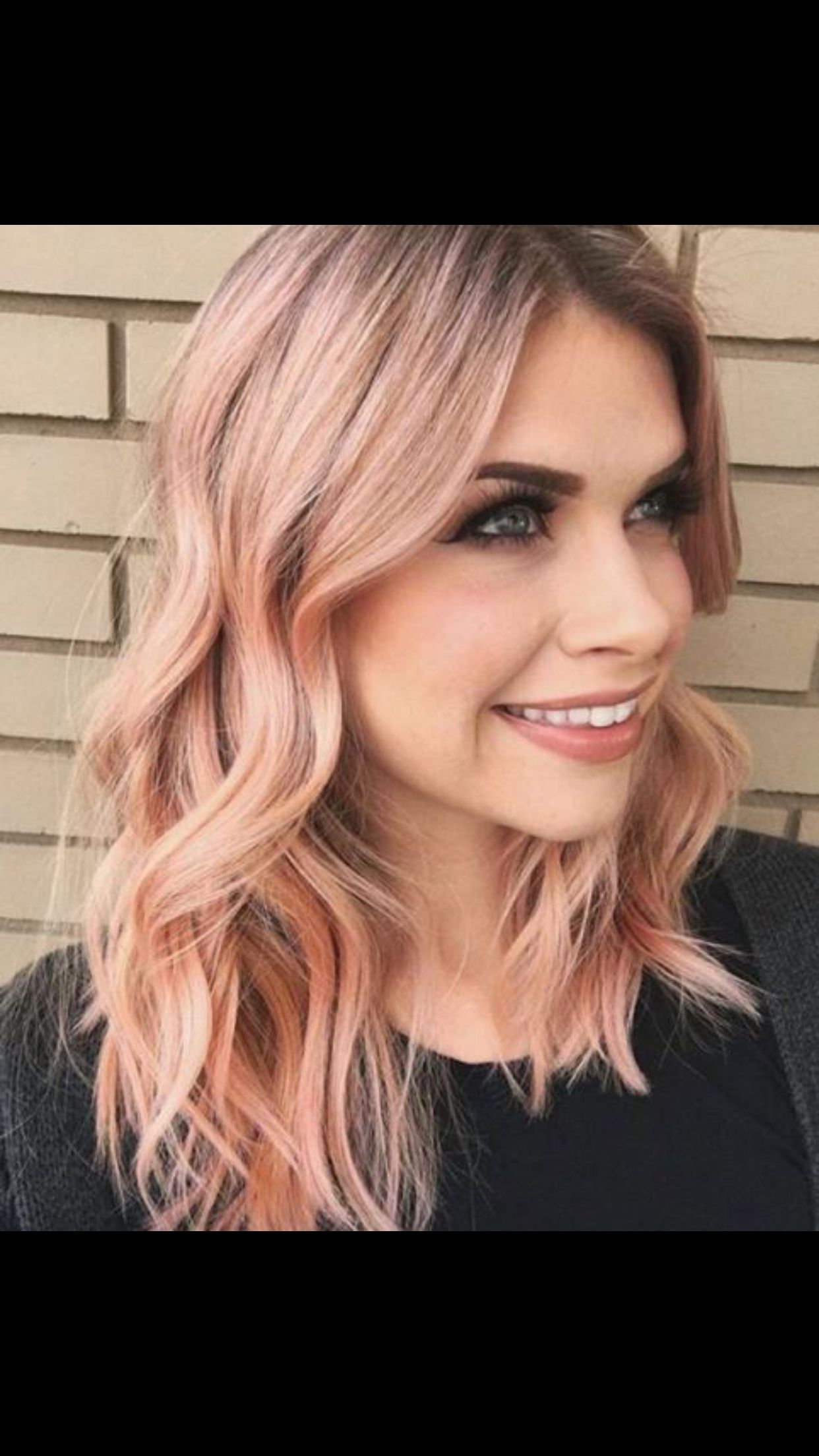 Rose gold More Hair styles u colors Pinterest Rose Gold and