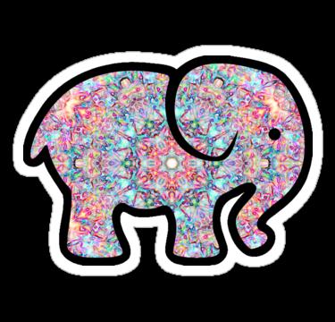 """Elephant"" Stickers by sophhsophh Redbubble Elephant"