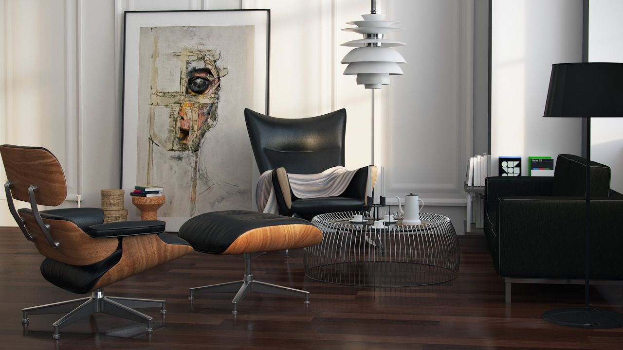 Eames Interior charles eames lounge chair | interiors | pinterest | lounge chairs
