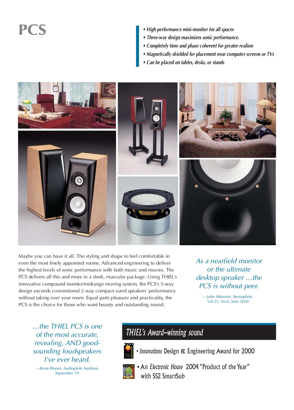 thiel pcs speaker ad thiel audio pinterest speakers rh pinterest co uk