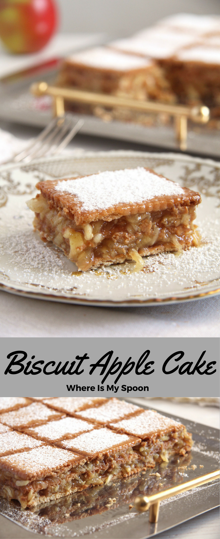 Holidays Biscuit Apple Cake