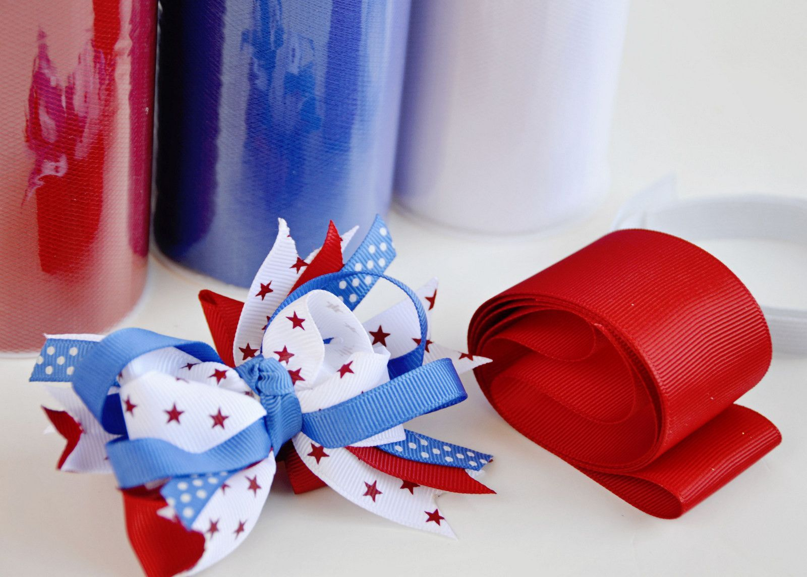 Patriotic diy tutu kit bows pinterest tutu hair bow and diy bow patriotic diy tutu kit solutioingenieria Gallery