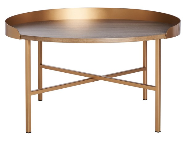 Cof4208a Coffee Tables Furniture By Safavieh Round Gold Coffee Table Gold Coffee Table Round Coffee Table