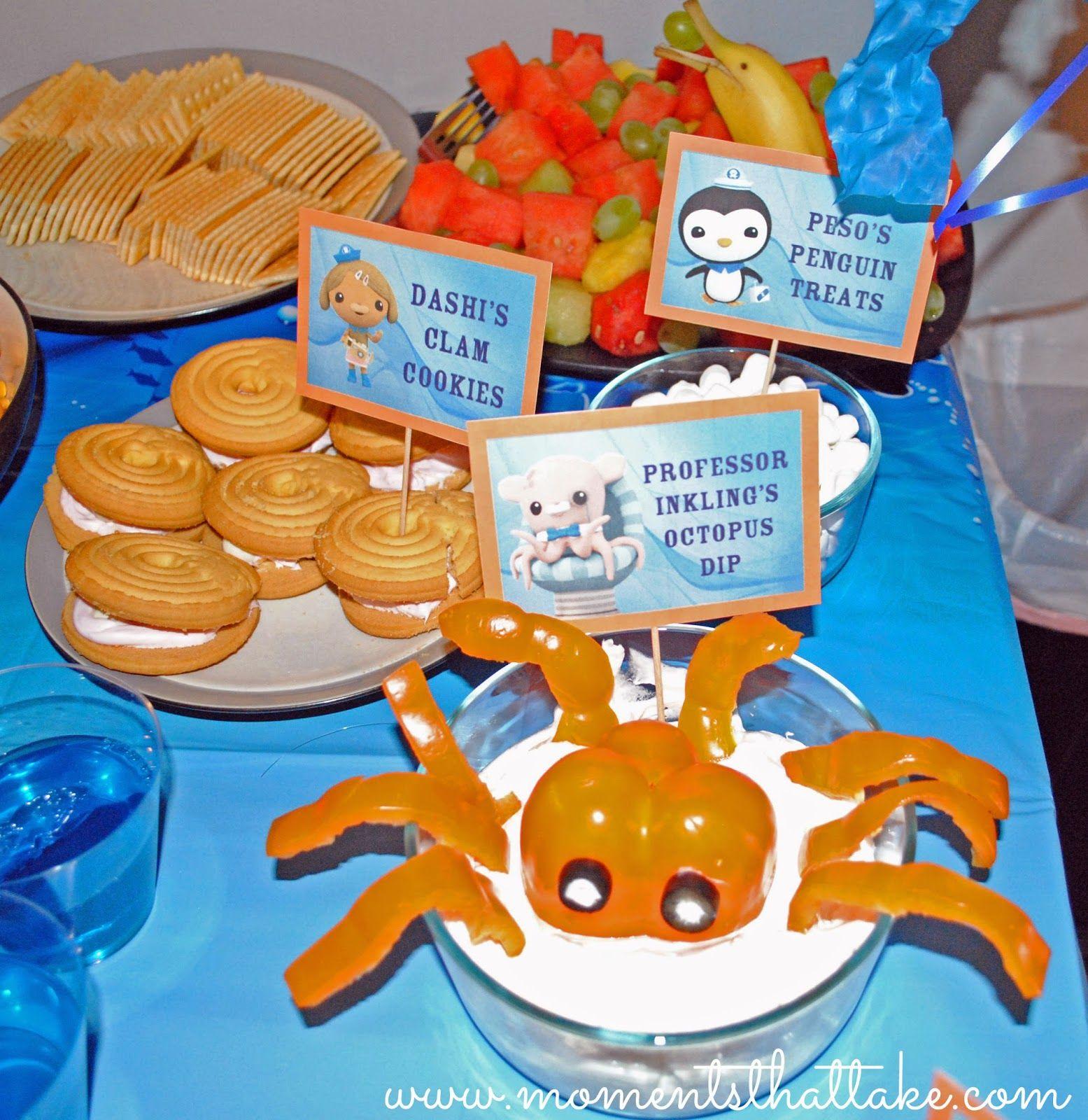 Octonauts Birthday Party Food Ideas Professor Inklings Octopus Dip Bell Pepper