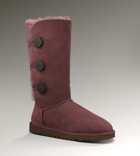 UGG Bailey Button Triplet Boots Style in Mahogany $229.95