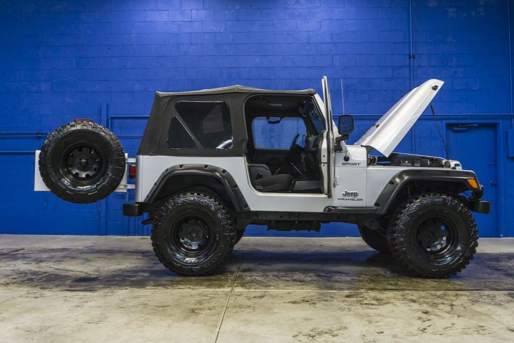 2004 Jeep Wrangler Sport 4x4 Soft Top Jeep With Off Road Wheels