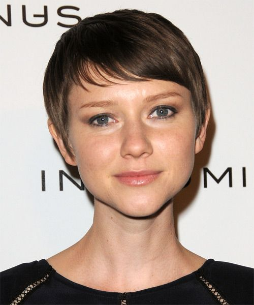 Valorie Curry Short Straight Casual Hairstyle   Medium Brunette (Chocolate)