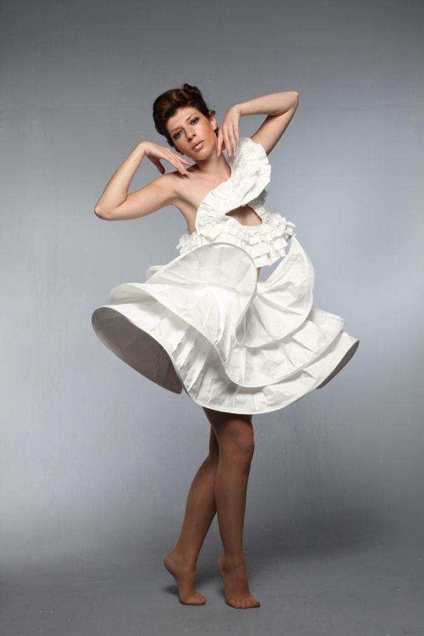 The Rhythm Of Paper Types Of Fashion Styles Art Dress Paper Dress