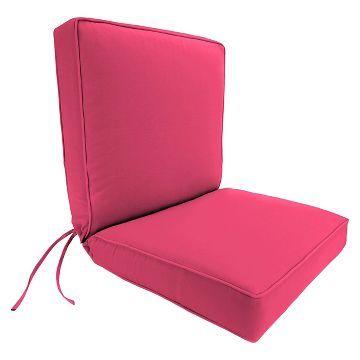 Jordan Boxed Edge Chair Cushion Hot Pink Dining Chair Cushions Patio Cushions Outdoor Chair Cushions